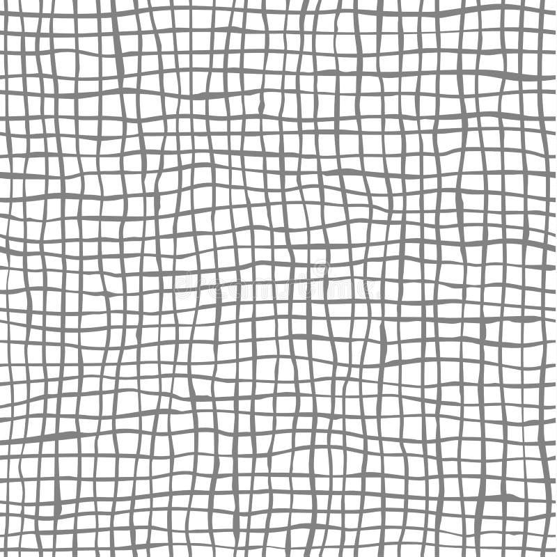 与手拉的线的传染媒介无缝的乱画样式 皇族释放例证