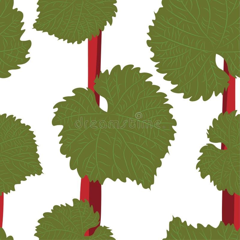 与手拉的葡萄酒叶子的传染媒介无缝的样式 美好的设计元素,为印刷品和样式完善 向量例证