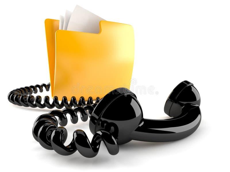 与手机的文件夹 皇族释放例证
