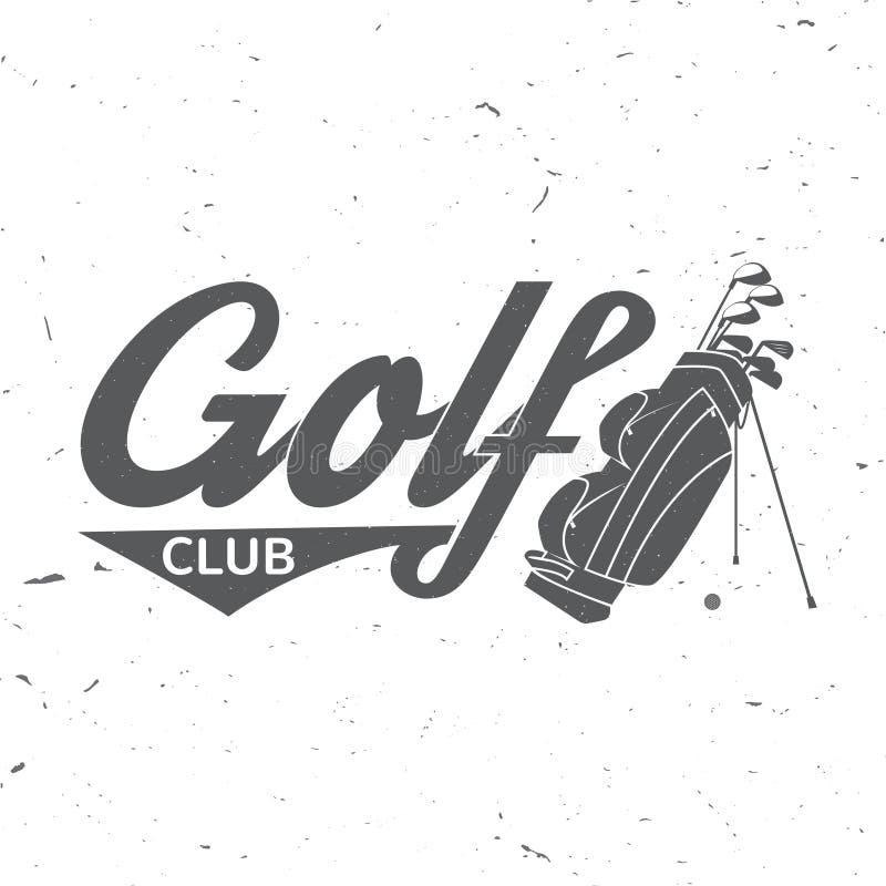 与打高尔夫球的袋子的高尔夫俱乐部概念 向量例证