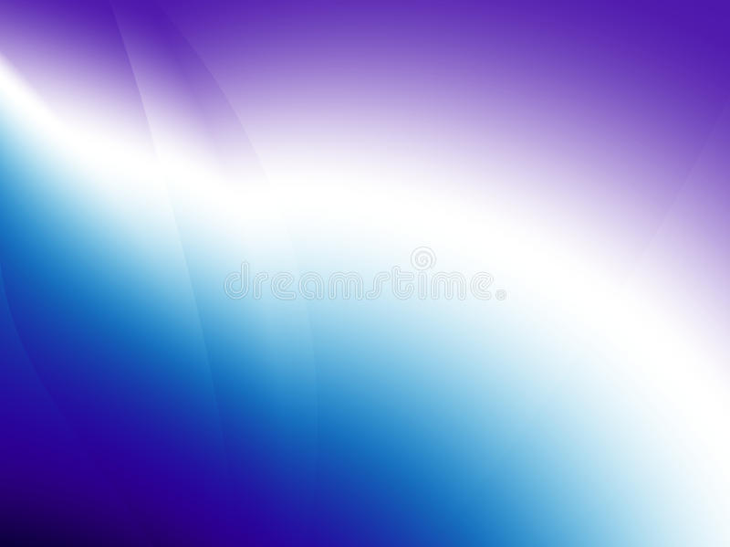 与打破梯度的稀薄的线的发光的深刻的蓝色,紫色/紫罗兰色和白色抽象分数维 皇族释放例证