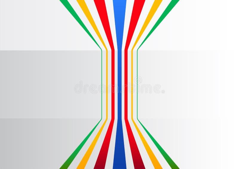 与扩充的垂直线的五颜六色的普通企业背景象征信息和流程 皇族释放例证