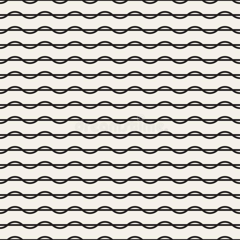 与扭转的线性弯的抽象传染媒介纹理 向量例证