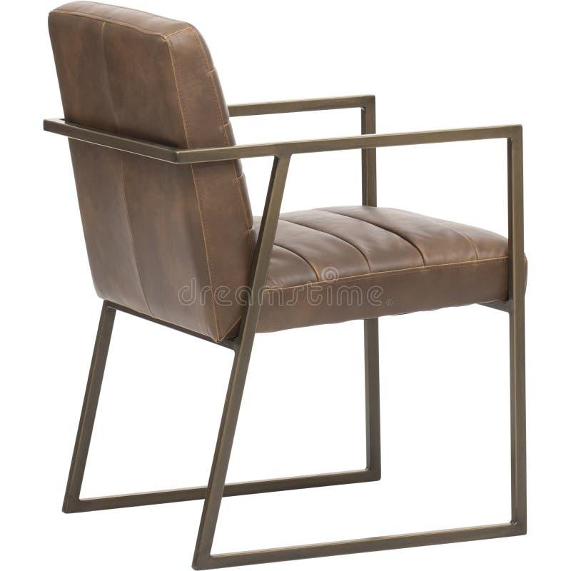与扶手、伯根地坐垫和后面架靠背扶手椅子的木木制框架,穿戴公寓的轻松的椅子,Colleage Classroo 库存图片
