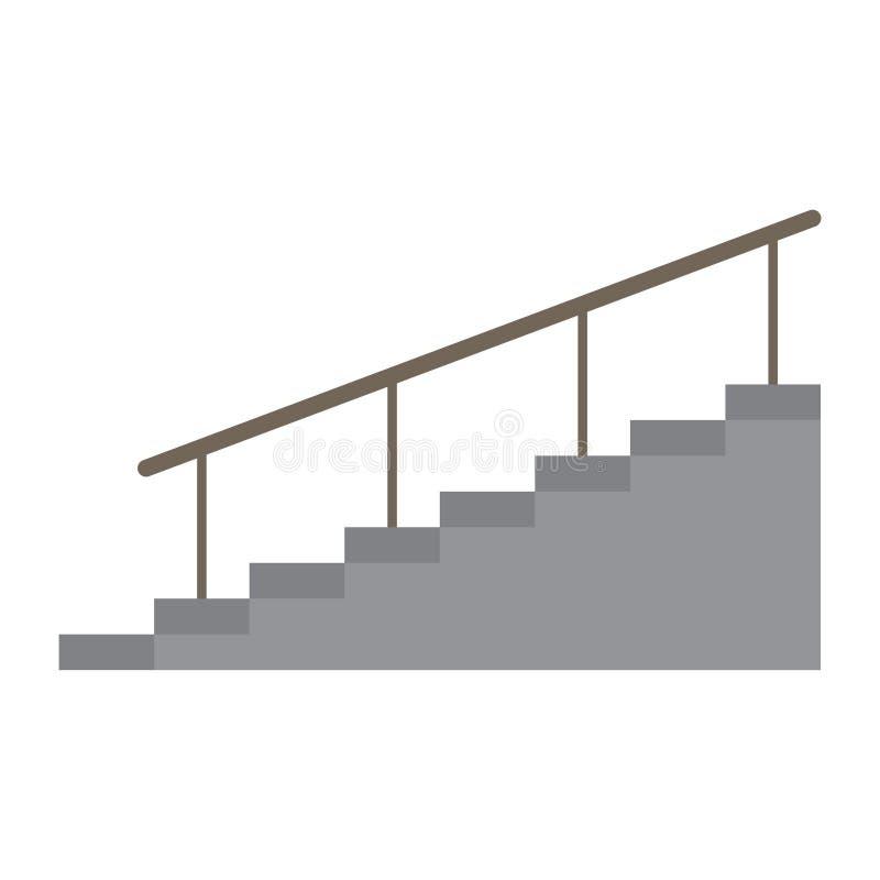 与扶手栏杆的楼梯 皇族释放例证