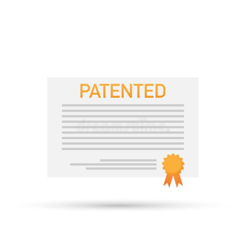 与批准的邮票传染媒介象例证的给予专利的文件 皇族释放例证