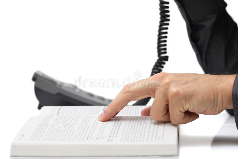 与技术员的技术支持概念电话的 免版税图库摄影