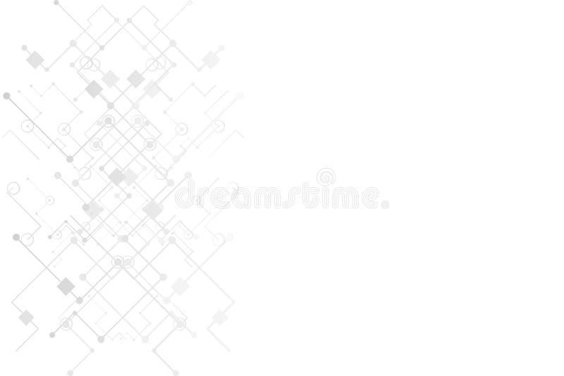 与技术电路板纹理的抽象数字式背景 电子主板 通信和工程学概念 库存例证