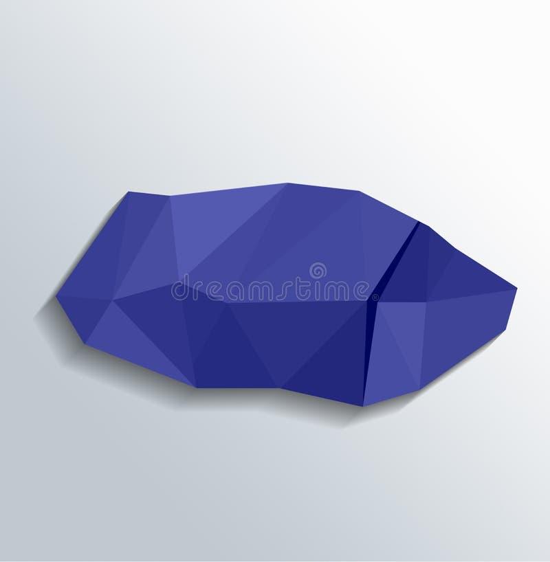 与折叠的Origami纸在白色背景 皇族释放例证
