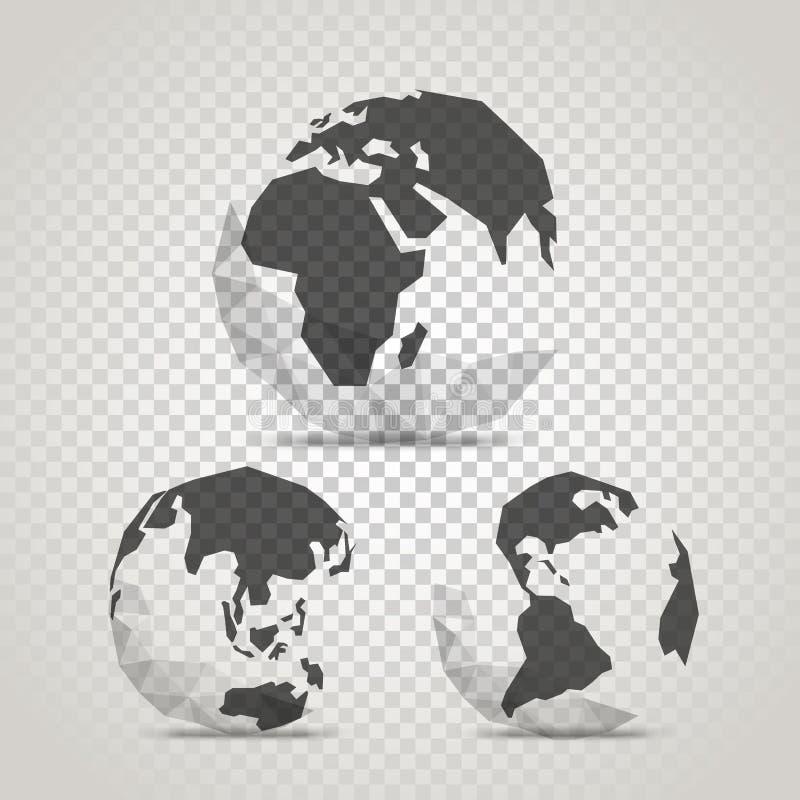 与抽象世界地图的地球 与的Infographic模板 皇族释放例证