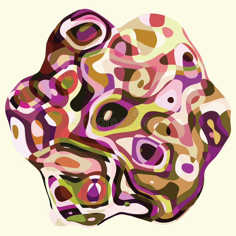 与抽象五颜六色的波浪背景卡片模板的几何形状 向量例证
