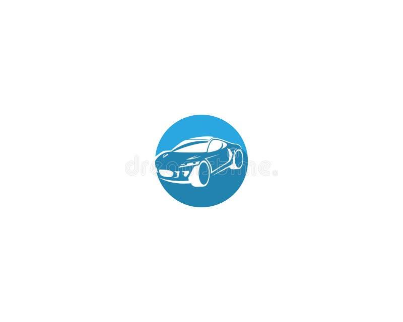 与抽象体育车剪影的汽车汽车商标设计 库存例证