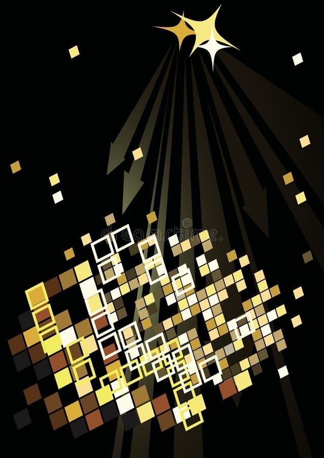 与抽象光的舞会海报 向量例证