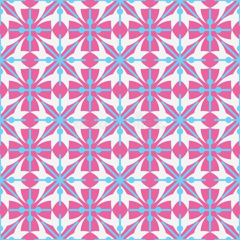 与抽象几何形状的被定购的安排的无缝的样式 十字架的图象在白色背景的 ( 免版税库存照片
