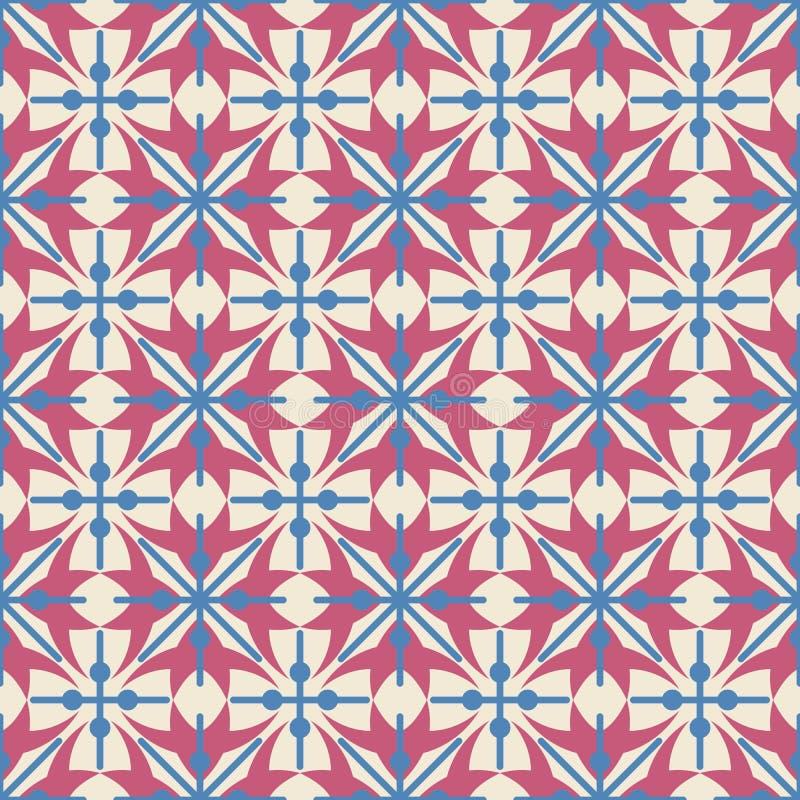 与抽象几何形状的被定购的安排的无缝的样式 十字架的图象在轻的背景的 ( 免版税库存图片