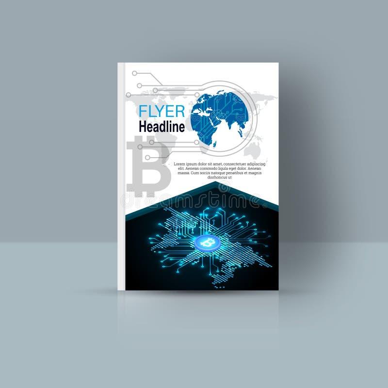 与抽象图的杂志封面 向量例证