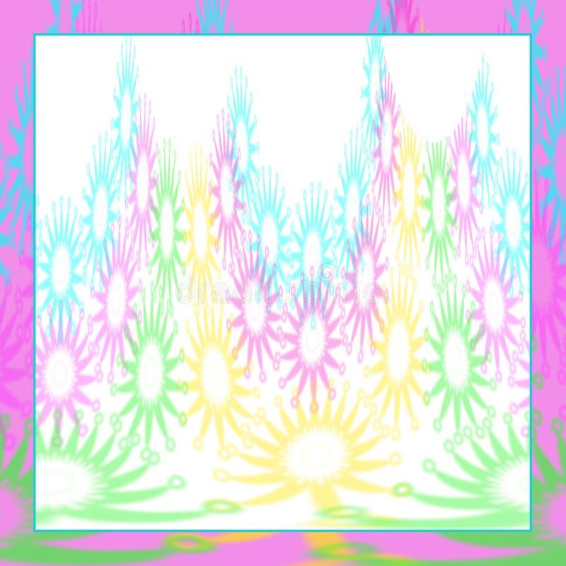 与抽象型的象镶嵌般的设计的背景在花卉柔和的淡色彩 库存例证