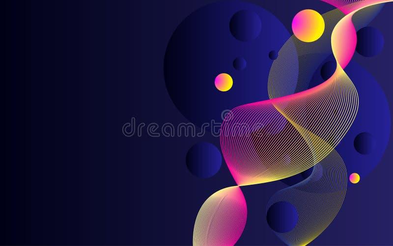 与抽象多彩多姿的流程形状的背景设计 向量例证