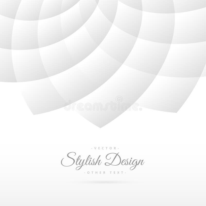 与抽象样式的白色背景 库存例证