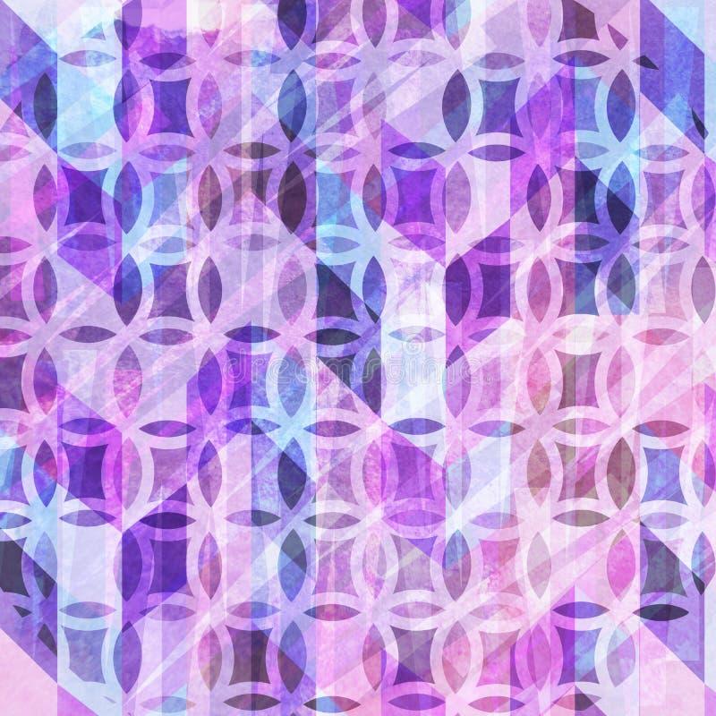 与抽象细节的装饰抽象水彩背景 向量例证
