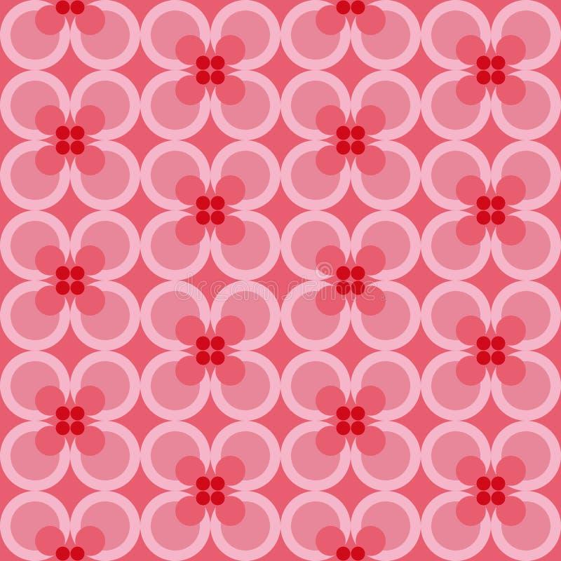 与抽象花卉元素和颜色梯度的无缝的样式 皇族释放例证