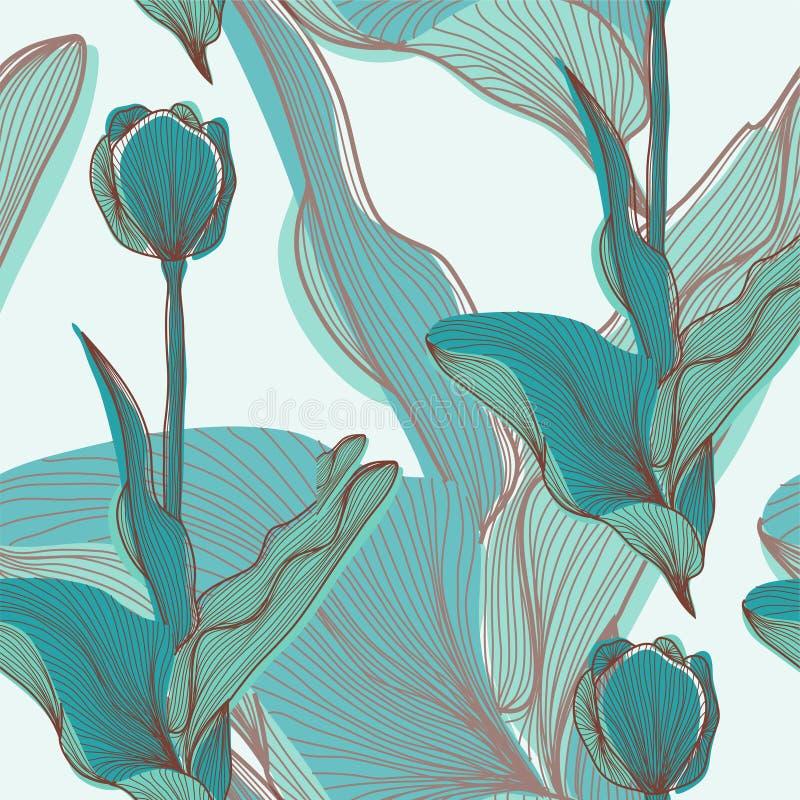 Download 无缝的样式 向量例证. 插画 包括有 装饰, 艺术, 夏天, 花卉, 织品, 例证, 草图, 靠山, 风格化 - 30335245