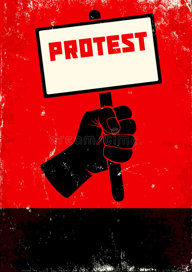 抗议的例证 库存例证