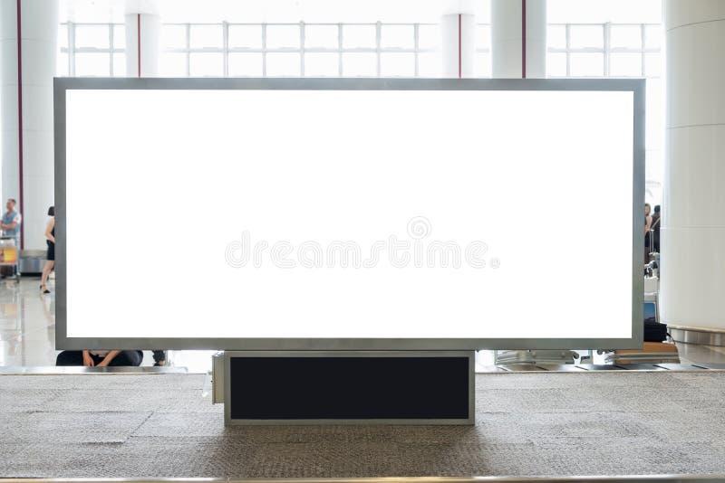 与拷贝空间做广告的,公众的数字式空白的广告牌 库存图片