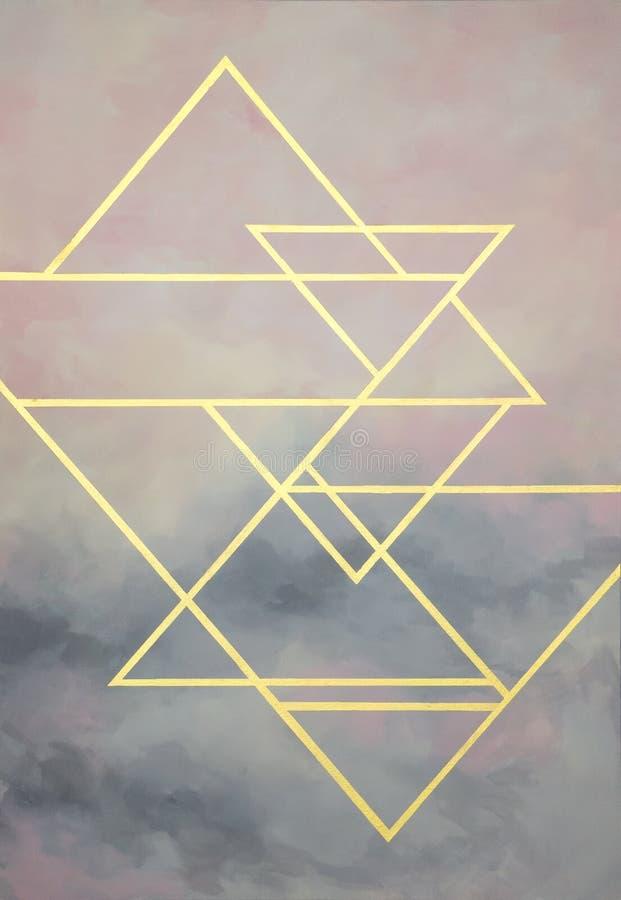 与拷贝空间的抽象五颜六色的淡色水彩地方的您的设计或邀请卡片 数字式艺术绘画 现代technol 向量例证