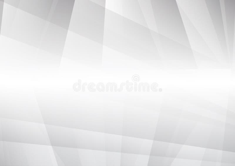 与拷贝空间的抽象灰色和白色颜色几何现代设计传染媒介背景eps10 向量例证