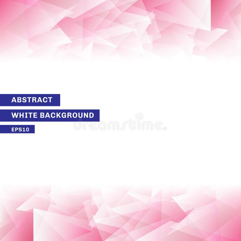 与拷贝空间的摘要模板桃红色低多时髦白色背景 您能为网站,小册子,飞行物,盖子,横幅使用, 向量例证