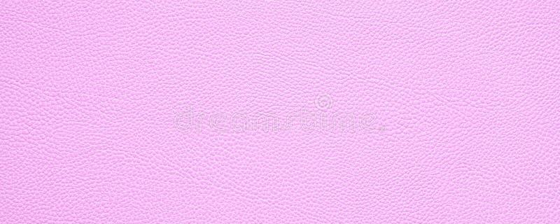 与拷贝空间的空白桃红色皮革纹理背景横幅 向量例证