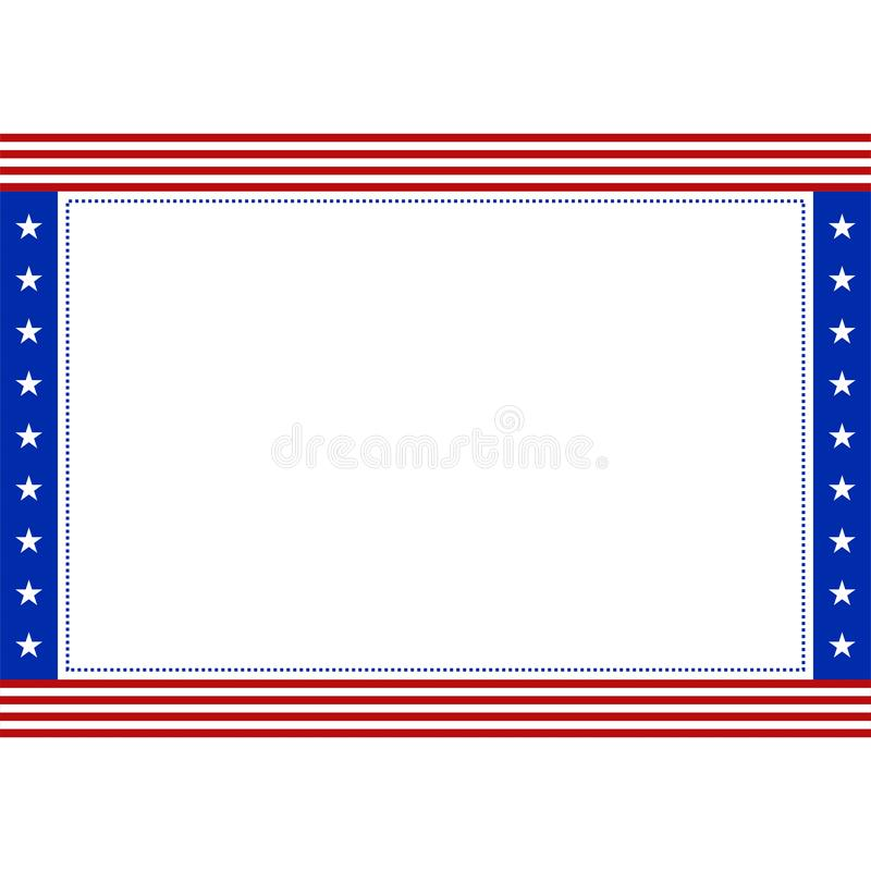 与拷贝空间的股票传染媒介美国国旗爱国边界为 库存例证