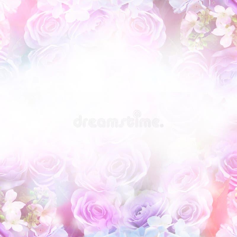 与拷贝空间的花卉抽象淡色背景 库存图片