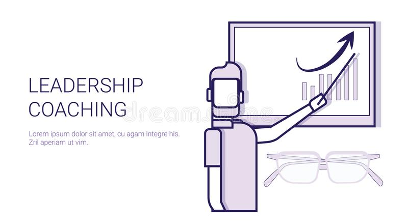 与拷贝空间的领导教练的辅导者训练概念模板网横幅 皇族释放例证