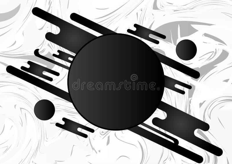 与拷贝空间的黑白几何抽象背景 也corel凹道例证向量 库存例证