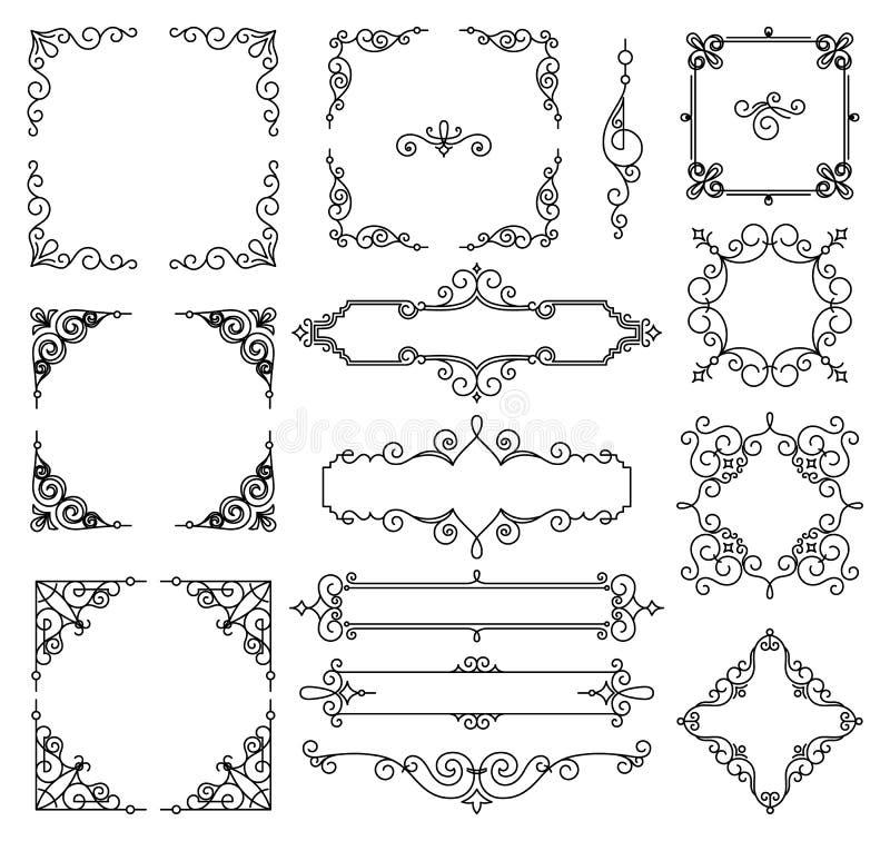 与拷贝空间的传染媒介时髦线性框架文本的-婚礼邀请设计模板-装饰背景 向量例证