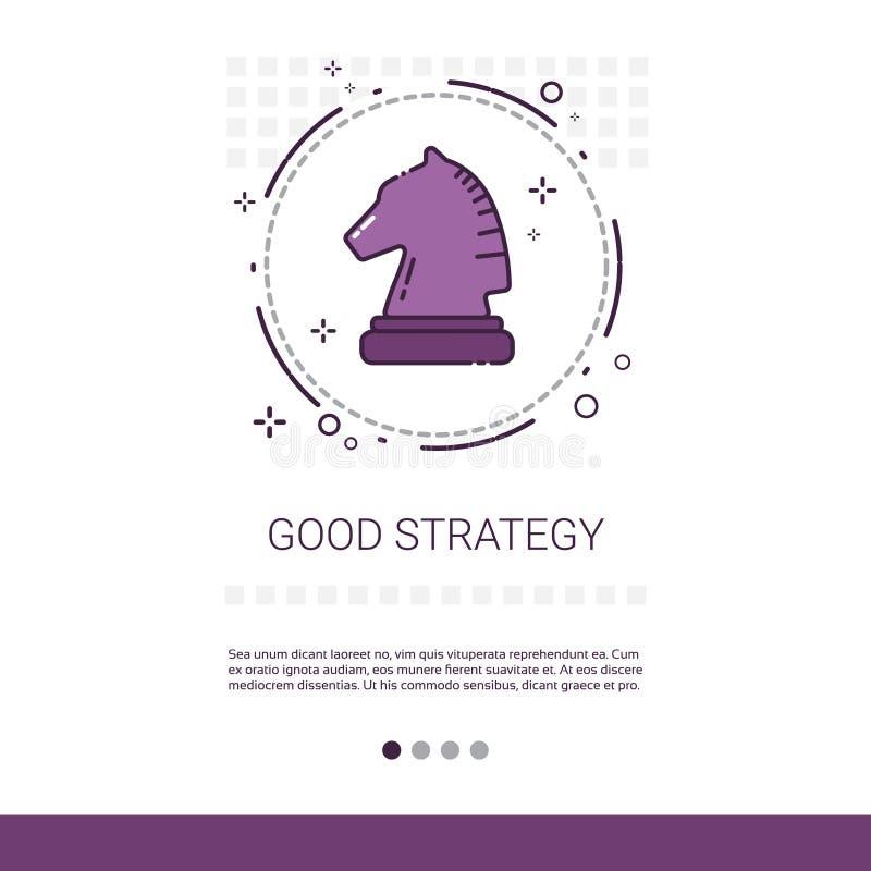与拷贝空间的好战略企业规划横幅 库存例证