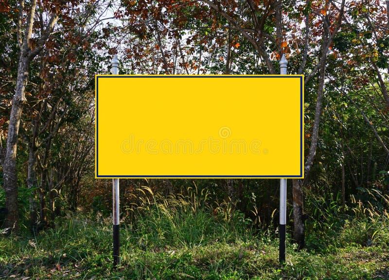 与拷贝空间的广告牌您的正文消息的 库存照片
