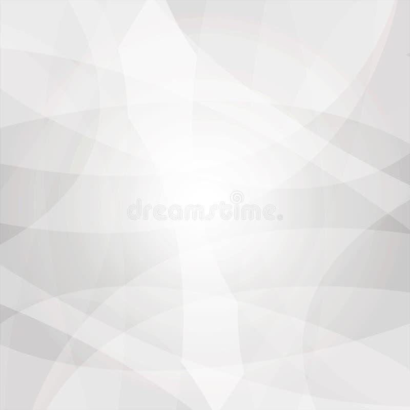 与拷贝空间的抽象白色和灰色低多背景 皇族释放例证