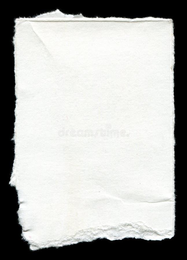 与拷贝空间的被撕毁的白纸 免版税库存图片