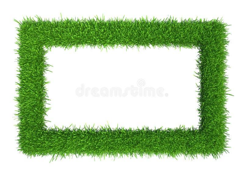 与拷贝空间的绿草框架 皇族释放例证
