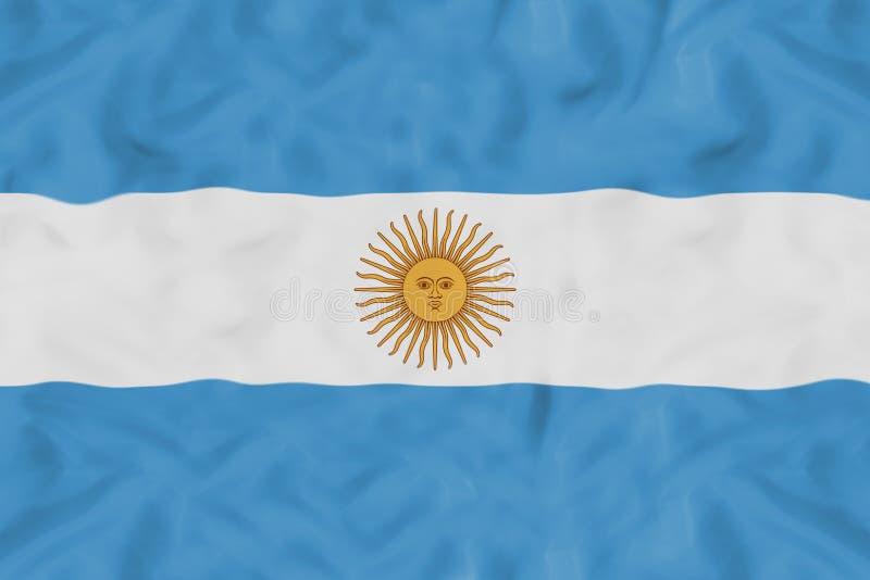 与挥动的织品的阿根廷国旗 免版税图库摄影