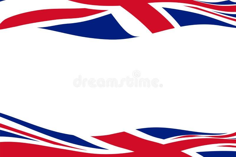 与挥动英国旗子的框架模板 皇族释放例证