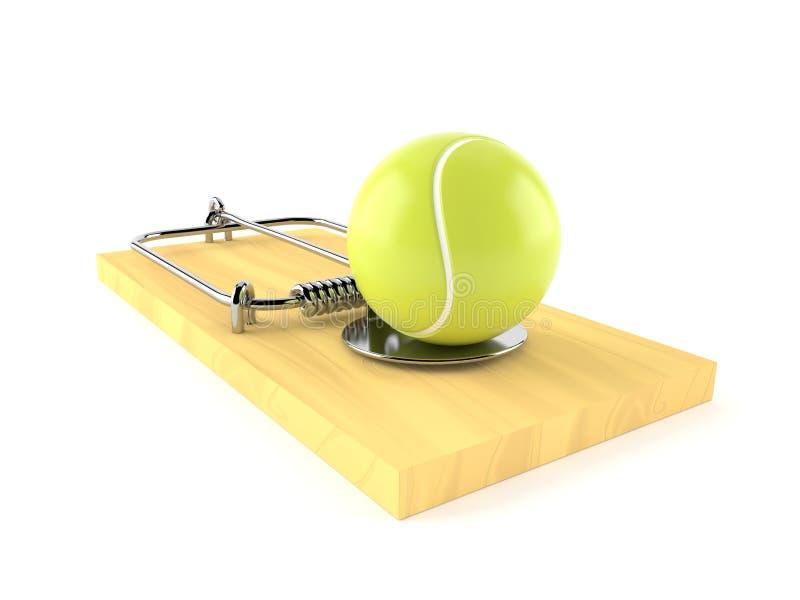 与捕鼠器的网球 皇族释放例证