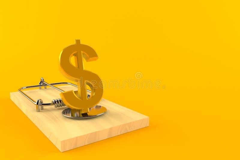 与捕鼠器的美元货币 向量例证