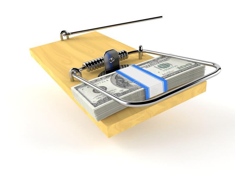 与捕鼠器的金钱 库存例证
