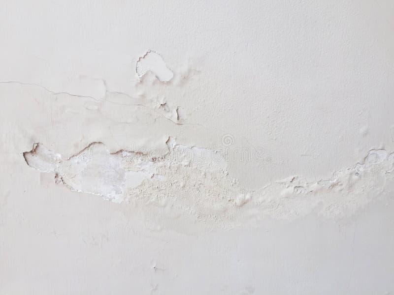 与损坏的房子墙壁的抽象背景 免版税图库摄影
