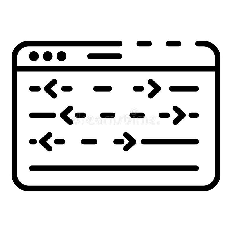 与控制板象,概述样式的网窗口 皇族释放例证