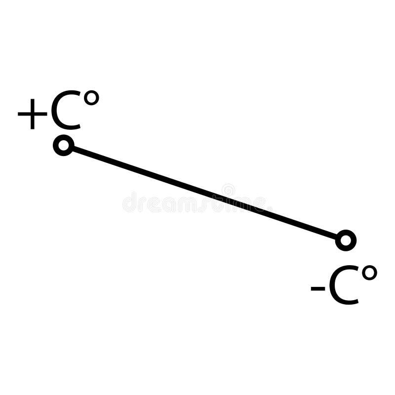 与摄氏度的线 i 皇族释放例证